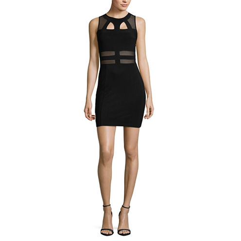 Trixxi Sleeveless Bodycon Dress-Juniors