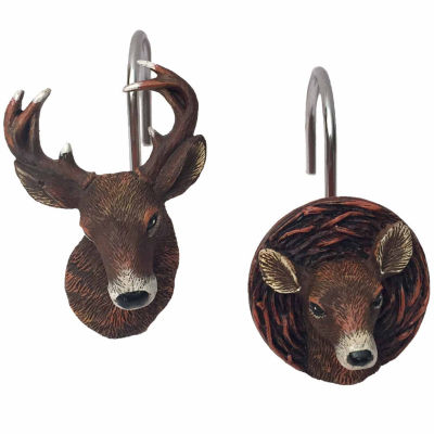 Laural Home Deer Time Shower Curtain Hooks