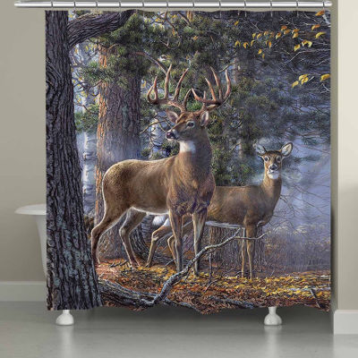 Laural Home Deer Time Shower Curtain