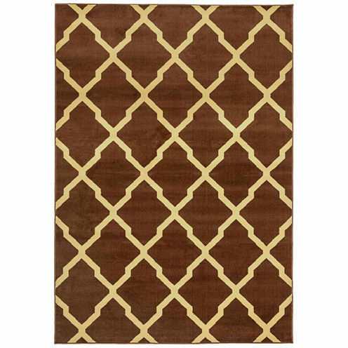 Rizzy Home Millington Collection Power Loomed Willow Geometric Area Rug