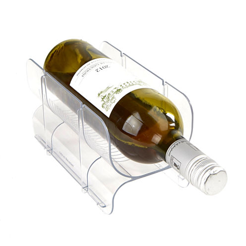 Mind Reader Acrylic 2 Pack Stackable Wine Bottle Holder