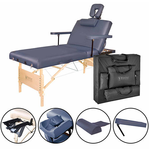 "Master® Massage 31"" Coronado Pro Salon Portable Massage Table Beauty Bed Pacakge Royal Blue"