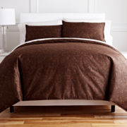 Royal Velvet® Chocolate Paisley 3-pc. Duvet Cover Set