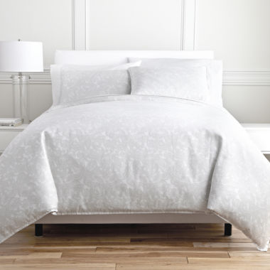 jcpenney.com | Royal Velvet® Cool White Paisley 3-pc. Duvet Cover Set