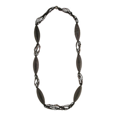 jcpenney.com | Designs by Adina Black Bead Woven Flapper Necklace
