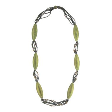 jcpenney.com | Designs by Adina Light Green Woven Flapper Necklace