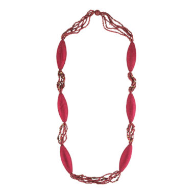 jcpenney.com | Designs by Adina Red Woven Flapper Necklace