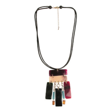 jcpenney.com | Designs by Adina Multicolor Rectangle Tiki Necklace