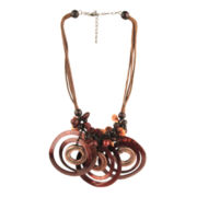 Designs by Adina Brown Tonal Mixed Media Necklace