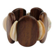 Designs by Adina Wood & Mother-of-Pearl Stretch Bracelet