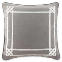 "Happy Chic by Jonathan Adler Chloe 18"" Square Border Decorative Pillow"