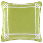 Happy Chic by Jonathan Adler Charlotte Square Border Decorative Pillow