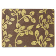 Set of 4 Burlap Placemats with Gold Print