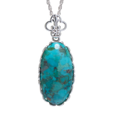 jcpenney.com | Enhanced Turquoise Sterling Silver Scalloped Pendant Necklace
