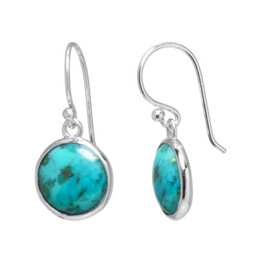 jcpenney.com | Enhanced Turquoise Sterling Silver Drop Earrings