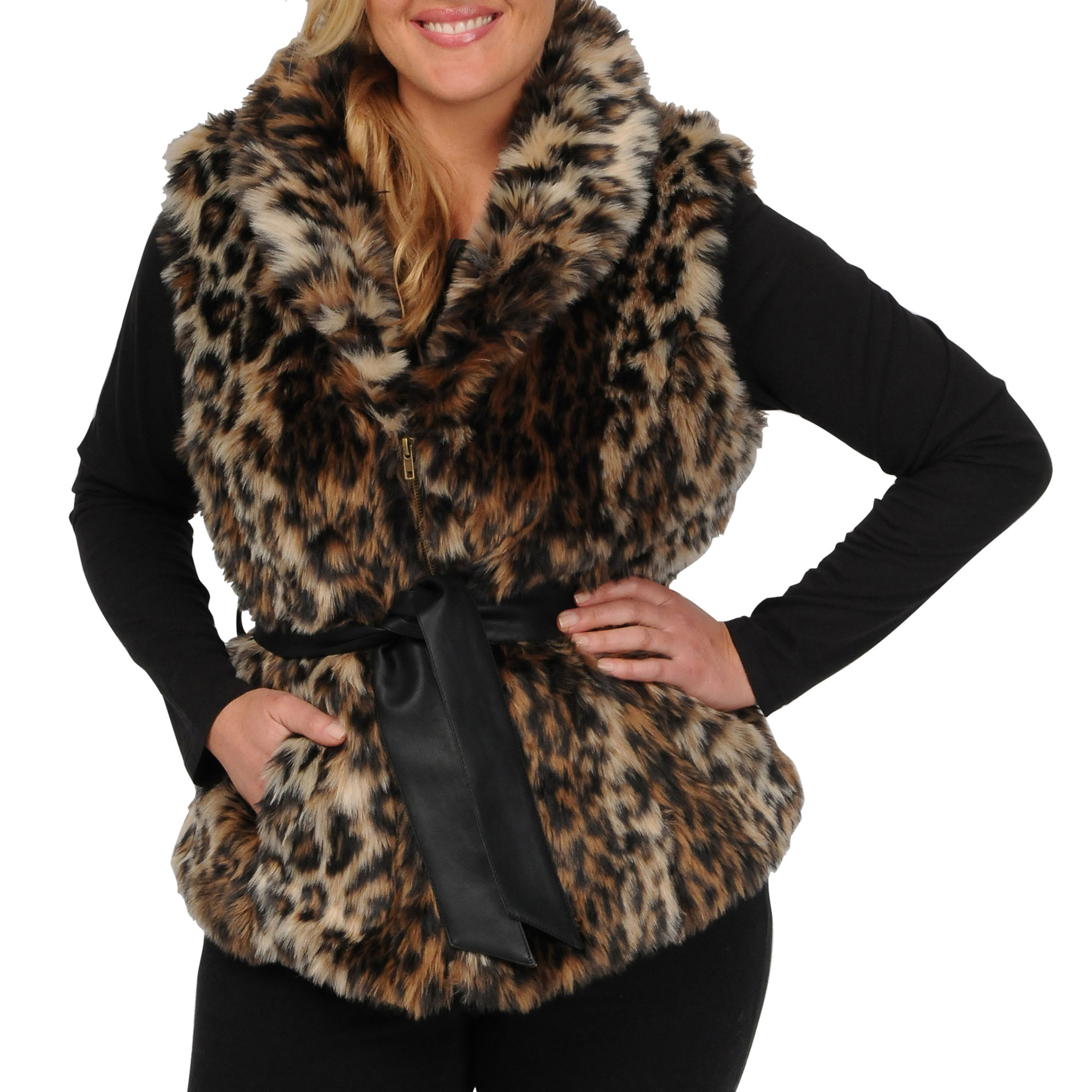 Excelled Faux-Fur Vest - Plus