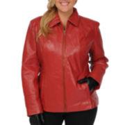Excelled Leather Scuba Jacket - Plus