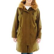 Liz Claiborne® Hooded Parka - Plus