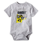 Okie Dokie® Short-Sleeve Graphic Knit Bodysuit – Boys newborn-9m