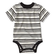 Okie Dokie® Short-Sleeve Striped Bodysuit – Boys newborn-9m