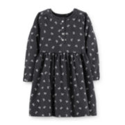 Carter's® Long-Sleeve Button-Front Print Dress – Girls 5-6x