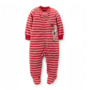 Carter's® Long-Sleeve Zip-Front Sleep and Play – Boys newborn-9m