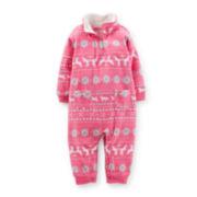 Carter's® Long-Sleeve Microfleece Bodysuit – Girls newborn-24m