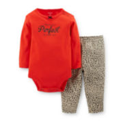 Carter's® 2-pc. Long-Sleeve Bodysuit and Pants Set – Girls newborn-24m