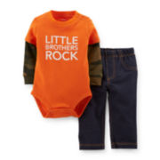 Carter's® 2-pc. Long-Sleeve Bodysuit and Jeans Set – Boys newborn-24m