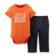 Carter's® 2-pc. Short-Sleeve Bodysuit and Jeans Set – Boys newborn-24m