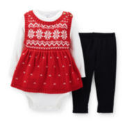 Carter's® 3-pc. Sweater Tunic, Bodysuit and Leggings Set – Girls newborn-24m