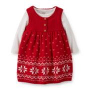 Carter's® 2-pc. Bodysuit and Knit Jumper Set – Girls newborn-24m