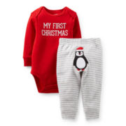 Carter's® 2-pc. Christmas Bodysuit and Pants Set – newborn-18m