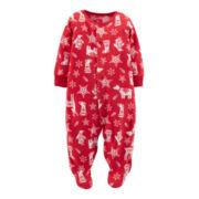 Carter's® Footed Microfleece Christmas Sleep and Play – newborn-9m