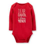 Carter's® Long-Sleeve Christmas Bodysuit – Girls newborn-18m