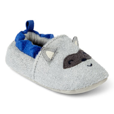 jcpenney.com | Carter's® Raccoon Zoomer Slippers - Boys newborn-12m