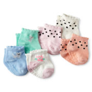 Carter's® 6-pk. Garden Socks - Girls newborn-24m