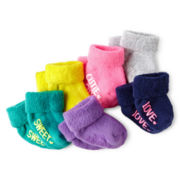 Carter's® 6-pk. French Terry Socks – Girls newborn-24m
