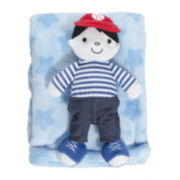 2-pc. Blue Blanket and Doll Set