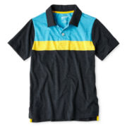 Arizona Short-Sleeve Striped Polo - Boys 6-18 and Husky