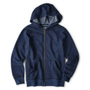 Arizona Solid Full-Zip Fleece Hoodie - Boys 6-18