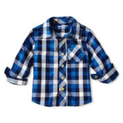 Arizona Long-Sleeve Button-Front Woven Shirt - Boys 3m-24m