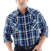 Ely Cattleman® Long-Sleeve Western Plaid Snap Shirt–Big & Tall