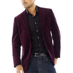 JF J. Ferrar® Slim-Fit Velvet Sport Coat