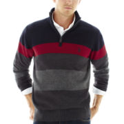 U.S. Polo Assn.® Quarter-Zip Sweater with Sherpa-Lined Collar