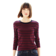 Joe Fresh™ Long-Sleeve Striped Tee