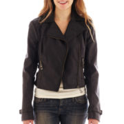 Sugarfly Faux-Leather Moto Jacket