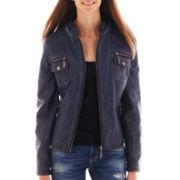 Jou Jou Faux-Leather Jacket