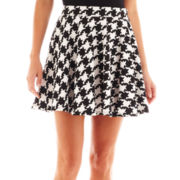 Olsenboye® Houndstooth Skater Skirt
