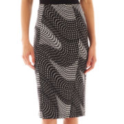 Bisou Bisou® Front-Zip Pencil Skirt
